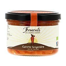 Carottes et Gingembre lacto-fermentés 170g Bio