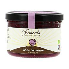 Chou-rouge et Betterave lacto-fermentés 170g Bio