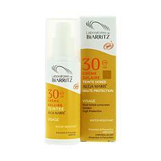 Crème solaire visage teintée Dorée 50Ml Bio
