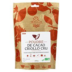 Cacao cru en poudre 250g Bio