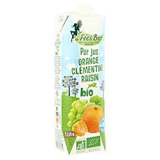Pur jus orange clémentine raisin 1L Bio