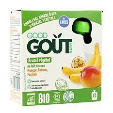 Gourdes brassé coco mangue passion banane 4x85g Bio