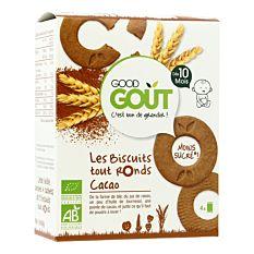 Biscuits tout ronds Cacao dès 10M 80g Bio