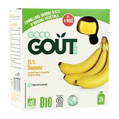 Gourdes à la Banane dès 4M 4x85g Bio