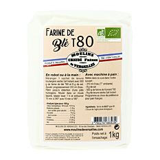 Farine de Blé T80 1kg Bio