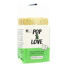 Crackers Sésame & Chia Sans Gluten 200g Bio