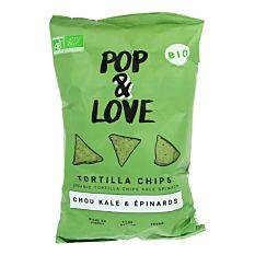 Chips Tortilla au Chou Kale & Épinards 135g Bio