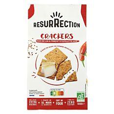 Crackers Duo De Lin Et Piment D'espelette Aop 100g Bio
