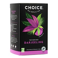 Thé noir darjeeling 20 infusions Bio