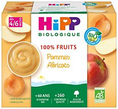 Hipp Cpel.Pom/Abricot4M 4X100G Bio