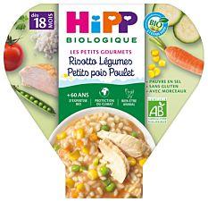 Assiette Risotto légumes & poulet 260G Bio