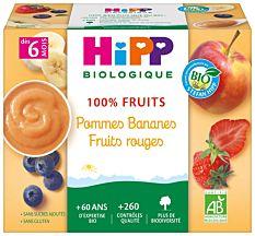 Hipp Pom/Ban.Fru Rouge 4X100G Bio