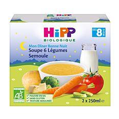 Soup.6 Leg Hipp 2X250Ml Bio