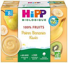Coupell Poir Banan Kiwi 4X100G Bio