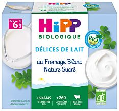 Coupelle Fromage Blanc 4X100G Bio