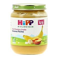 Petit pot de Bananes et Pêches dès 4M 125g Bio