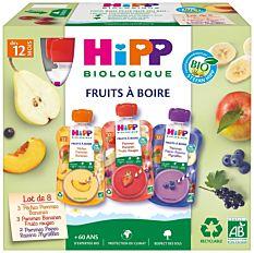 Gourdes Fruits à boire 12M 8x120Ml Bio