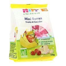 Mini barres de fruits et céréales 12M 100G Bio