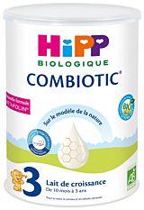 Lait 3 Combiotic croissance dès 10M 800g Bio