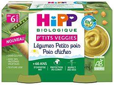 Petit pot légumes pois chiches 2x125g Bio