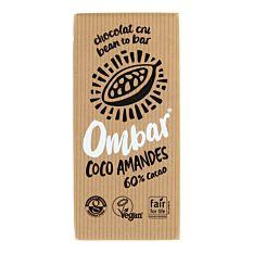 Chocolat Crème Coco Amandes 70g Bio