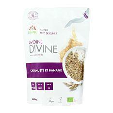 Avoine Divine Cacahuète et Banane 360g Bio