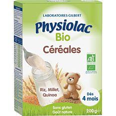 Céréales natures riz millet et quinoa 200G Bio