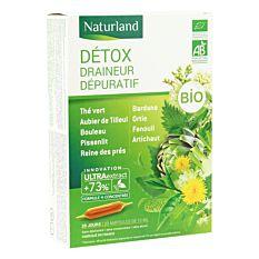 Détox draineur sépuratif - 20 ampoules 10ml Bio