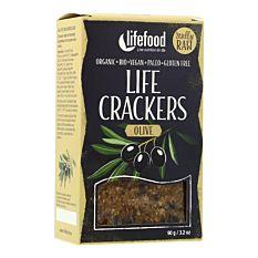 Crackers Crus à l'Olive 90g Bio
