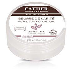 Beurre de karité visage, corps & cheveux 100g Bio