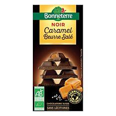 Chocolat noir fourré au caramel beurre salé 100G Bio