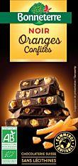 Chocolat Noir aux Oranges Confites 100G Bio