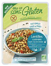 Repas lentilles, soja & duo riz sarrasin sans gluten 220G Bio