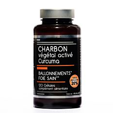 Charbon végétal activé Curcuma - 120 gélules