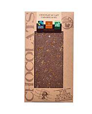 Chocolat Lait Caramel 100G Bio