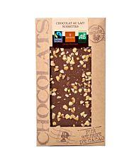 Chocolat au lait & noisettes 100G Bio