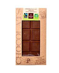Chocolat au lait nature 100G Bio