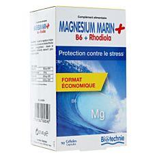 Magnésium marin + Rhodiola - 90 gélules