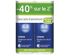 Duo déodorant roll-on Homme 2x50Ml - Weleda