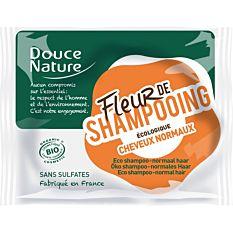 Fleur de shampooing solide cheveux normaux sans sulfates 85g Bio