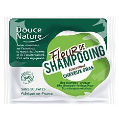 Fleur de shampooing solide cheveux gras sans sulfates 85g Bio