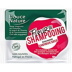 Fleur de shampooing solide cheveux secs sans sulfates 85g Bio