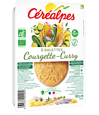 Galette Courget Curry 2X90G Bio