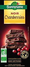 Chocolat Noir Cranberry 100G Bio
