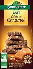 Chocolat au lait aux éclats de caramel 100G Bio
