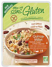 Quinoa-millet, haricots rouges & légumes sans gluten 220g Bio