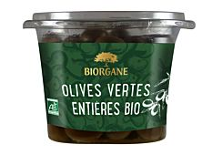 Olives vertes entières 250G Bio