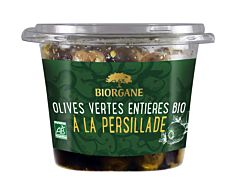 Olives vertes entières à la persillade 250G Bio