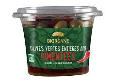 Olives vertes entières pimentées 255G Bio
