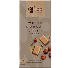 Chocolat blanc au lait de riz & nougat blanc vegan 80G